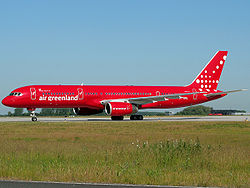 Air Greenlands Boeing 757-200.