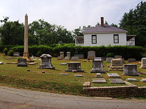 Oconee Hill Cemetery - Entrance and groundskeeper house in 2011