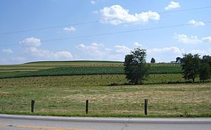 Clark Township, Holmes County, Ohio - Fields east of Charm on State Route 557