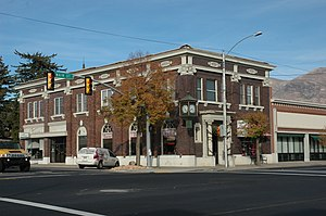 American Fork, Utah - The former Bank of American Fork on Main Street.