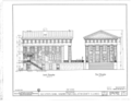 Old State Bank, Main Street and Route 13, Shawneetown, Gallatin County, IL HABS ILL,30-SHAWT,2- (sheet 1 of 6).png