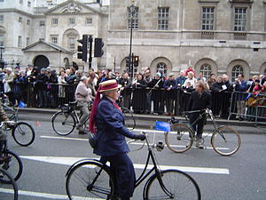 London's New Year's Day Parade - Antique bicycles, at the 2005 New Year's Day Parade, in Whitehall