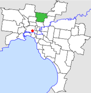 City of Preston (Victoria) - Location in Melbourne
