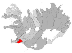 Location of the Municipality of Ölfus