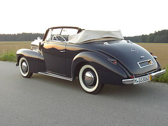 Hebmüller - Opel Kapitan Hebmüller from 1940, just 2 examples survived