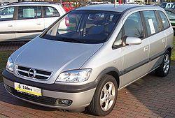 Opel Zafira, a seven-seater compact MPV