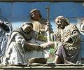 Opere di misericordia 02, santi buglioni, accogliere i pellegrini, dett 03 leonardo buonafede.jpg