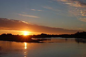 Orange River - Sunset over the Orange River near Upington in the Northern Cape