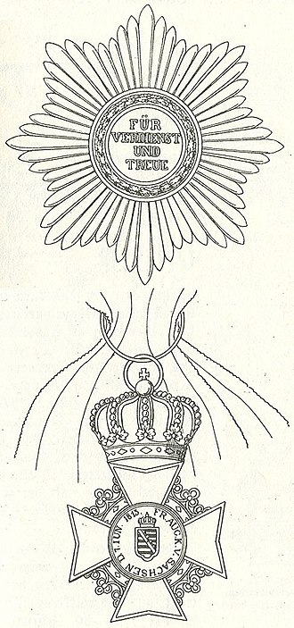 Civil Order of Saxony - Star and grand cross of the order