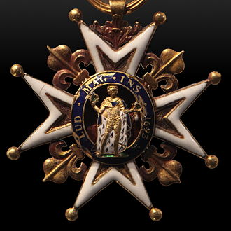 Louis de la Corne, Chevalier de la Corne - Cross of Saint Louis for La Corne's victory in the Battle of Grand Pre