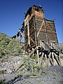 Ore bin and trestle, Lucky Star Mine, Looking S, Lincoln Co., NV - panoramio.jpg
