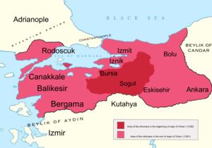 Battle of Pelekanon - Image: Orhan I area map