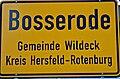 Ortsschild Bosserode, Wildeck, Hesse, Deutschland - 20041003.jpg