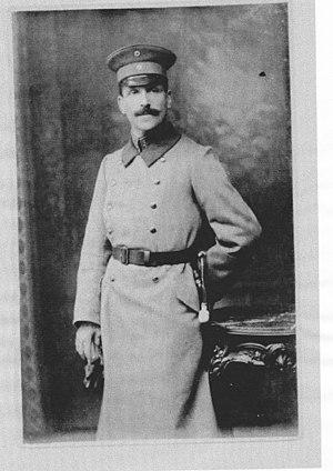 Otto Berg (scientist) - Otto Berg in the first world war