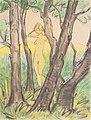Otto Mueller - Stehender weiblicher Akt zwischen Bäumen - ca1925.jpeg