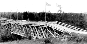 Ontario Highway 61 - The original bridge over the Pigeon River was known as The Outlaw.