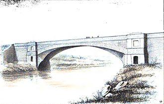Over Bridge - 1887 engraving
