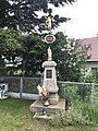 Overview of wayside cross near Třesov 38 in Třesov, Třebíč District.jpg