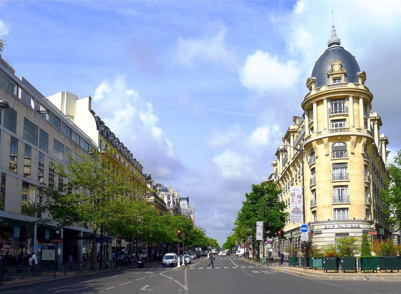 Le boulevard des Italiens vu du boulevard Montmartre