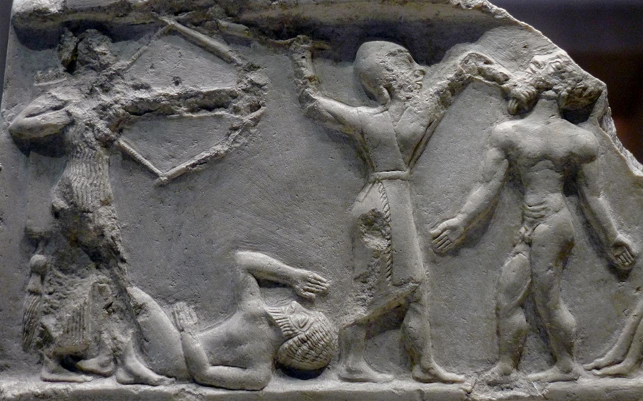 سربازان اکدی در حال کشتن دشمن ، 2300 سال پیش از میلاد