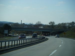 Pennsylvania Route 12 - PA 12 westbound at interchange with US 222 Bus.
