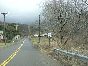 Pennsylvania Route 367 - Route 367 heading northward through Braintrim Township