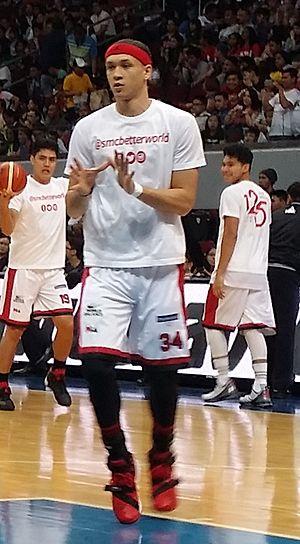 Chris Ellis (basketball) - Chris Ellis during a PBA game.