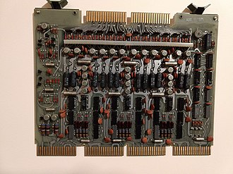 Magnetic-core memory - One of three inter-connected modules that make up a PDP-8 core memory plane.