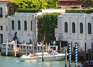 Peggy Guggenheim Collection modern art museum on the Grand Canal in Venice