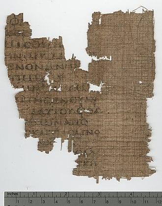 2 Corinthians 11 - 2 Corinthians 11:1-4, 6-9 in Papyrus 124 (6th century).