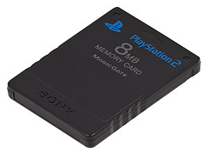 PlayStation 2 - The PlayStation 2 memory card