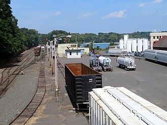 Pioneer Valley Railroad - Westfield Yard in August 2018
