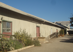 Pacific Coast Railway - This former freight shed in Los Alamos is one of the few remaining buildings associated with the Pacific Coast Railroad.