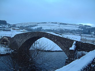 Stow of Wedale - Pack horse bridge across the Gala Water, at the south end of Stow