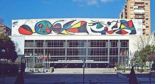 Mural del palau de congressos de Madrid