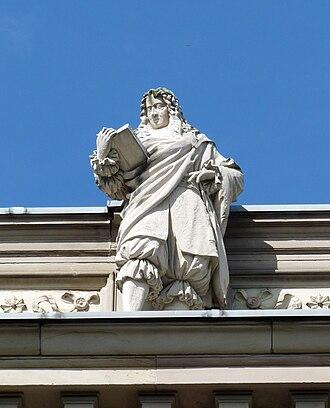 Samuel von Pufendorf - Statue of Pufendorf on the Palais Universitaire, Strasbourg, France.