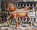 Palazzo schifanoia, salone dei mesi, 05 maggio (f. del cossa e aiuti), trionfo di apollo 02 cavalli 1.jpg