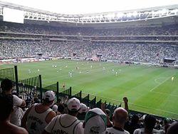 8f20fe94800c4 Clássico disputado em 2015 que contou com empate por 3 a 3 no Allianz  Parque. Derby Paulista ...