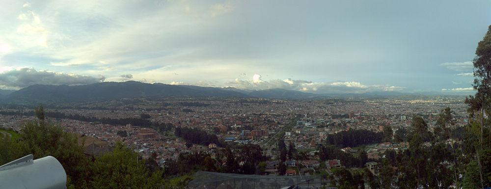 Panorámica de la ciudad desde el mirador de Turi.