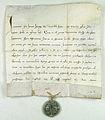 Papiez Innocenty IV udziela wladzy pozbawiania przywilejow zakony rycerskie templariuszy joannitow i rycerzy zakonu krzyzackiego.jpg