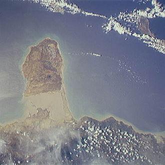 Paraguaná Peninsula - Satellite image of the Paraguaná Peninsula