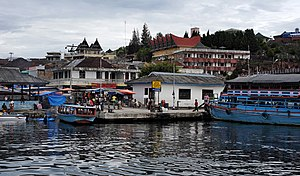 View of Parapat from Lake Toba