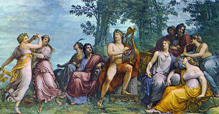 Apollo and the Muses on Parnassus, by Andrea Appiani Parnassus, Andrea Appiani (1811).jpg