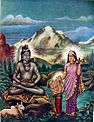 Parvati and Ganesh visit Shiva as he meditates in the forest.jpg