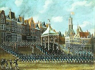 Patriottentijd - An exercitiegenootschap drill in Utrecht