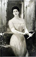 Portræt af kunstnerens hustru