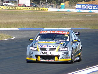 Paul Dumbrell - The Holden VE Commodore of Paul Dumbrell at Queensland Raceway 2008.