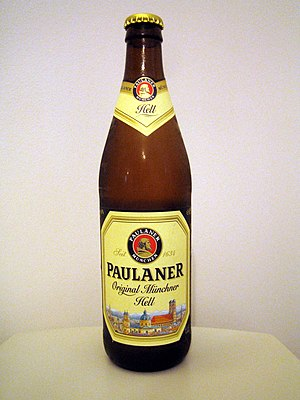 Paulaner Brewery - A bottle of Paulaner Hell