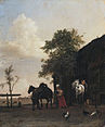 Paulus Potter - Figures with Horses by a Stable - WGA18206.jpg