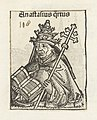 Paus Anastasius IV Anastasius quartus (titel op object) Liber Chronicarum (serietitel), RP-P-2016-49-67-1.jpg